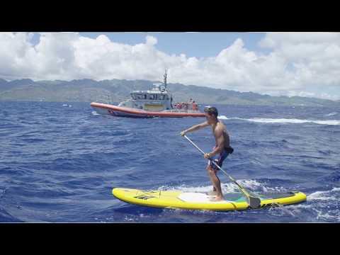 Kai Lenny, 7X world SUP champion, Coast Guard promote water safety