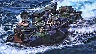 Marines Practice Combat Beach Landings & Recoveries