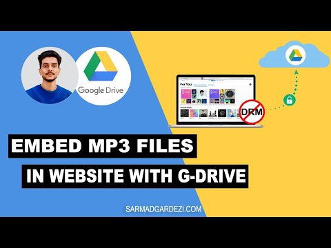 How To Embed MP3 Audio Files In Web Pages With Google Drive