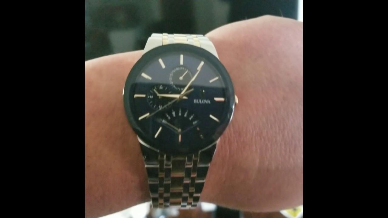 Bulova Men S Futuro Two Tone Stainless Steel Bracelet Watch 40mm