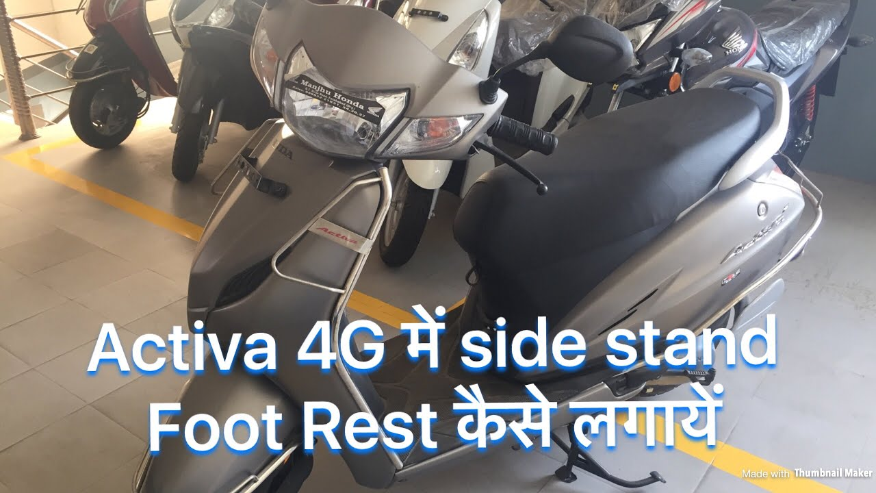 how to install or fit side stand n foot rest in honda