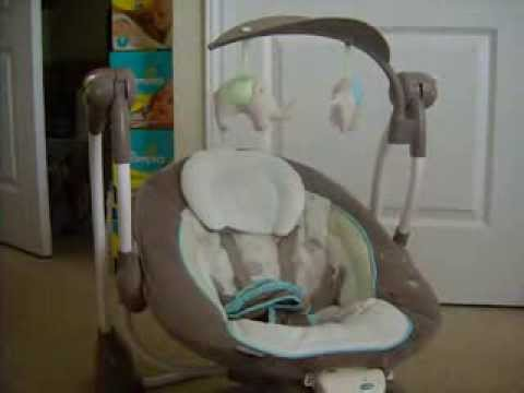 Baby Swing Chair Youtube Round Rocking Ingenuity Convertme 2 Seat Sahara Burst Review