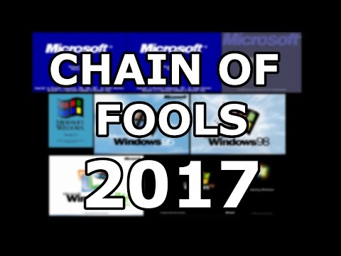 Chain of Fools 2017 - Every windows version upgraded through