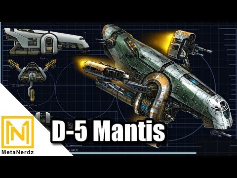 The Old Republic Slave 1 - D-5 Mantis Patrol Craft COMPLETE