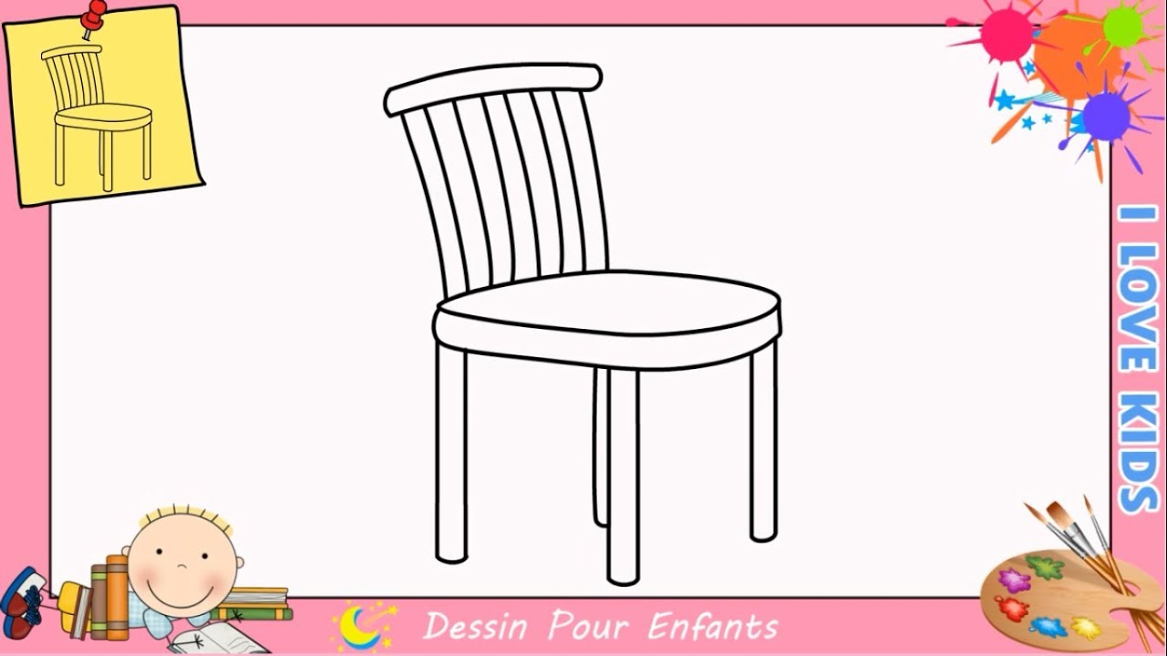 comment dessiner une chaise facilement etape par etape pour enfants 2 youtube. Black Bedroom Furniture Sets. Home Design Ideas