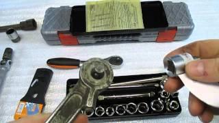 Инструмент , набор головок+ динамометрический ключ, обзор, ( не Китай).(, 2015-02-01T15:40:28.000Z)