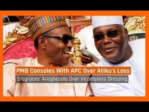 Nigeria News Daily: President Buhari Consoles With APC Over Atiku's Loss (27/11/2017)