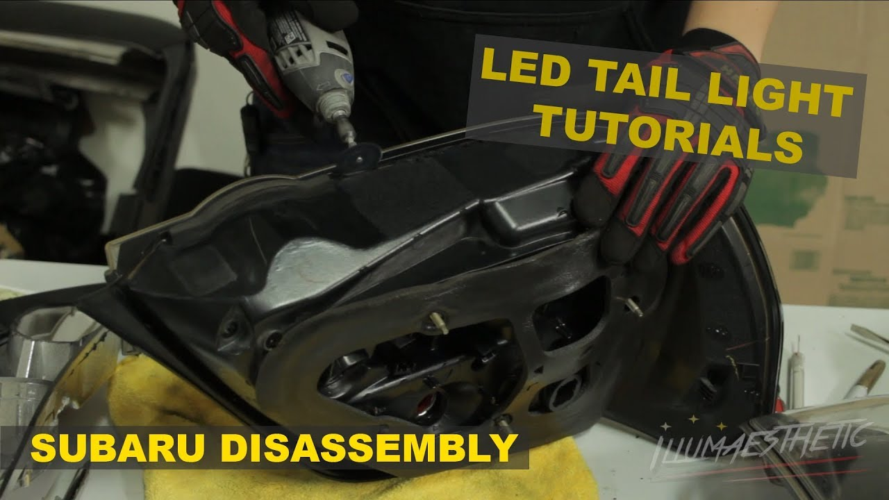 How to cut open Subaru Impreza tail lights! (04-07 OEM lights)