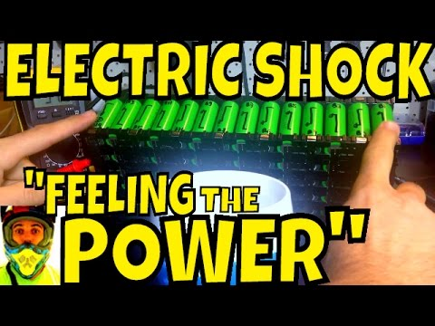 Electric Shock feeling the POWER!!! High Voltage DC Electric Bike Battery