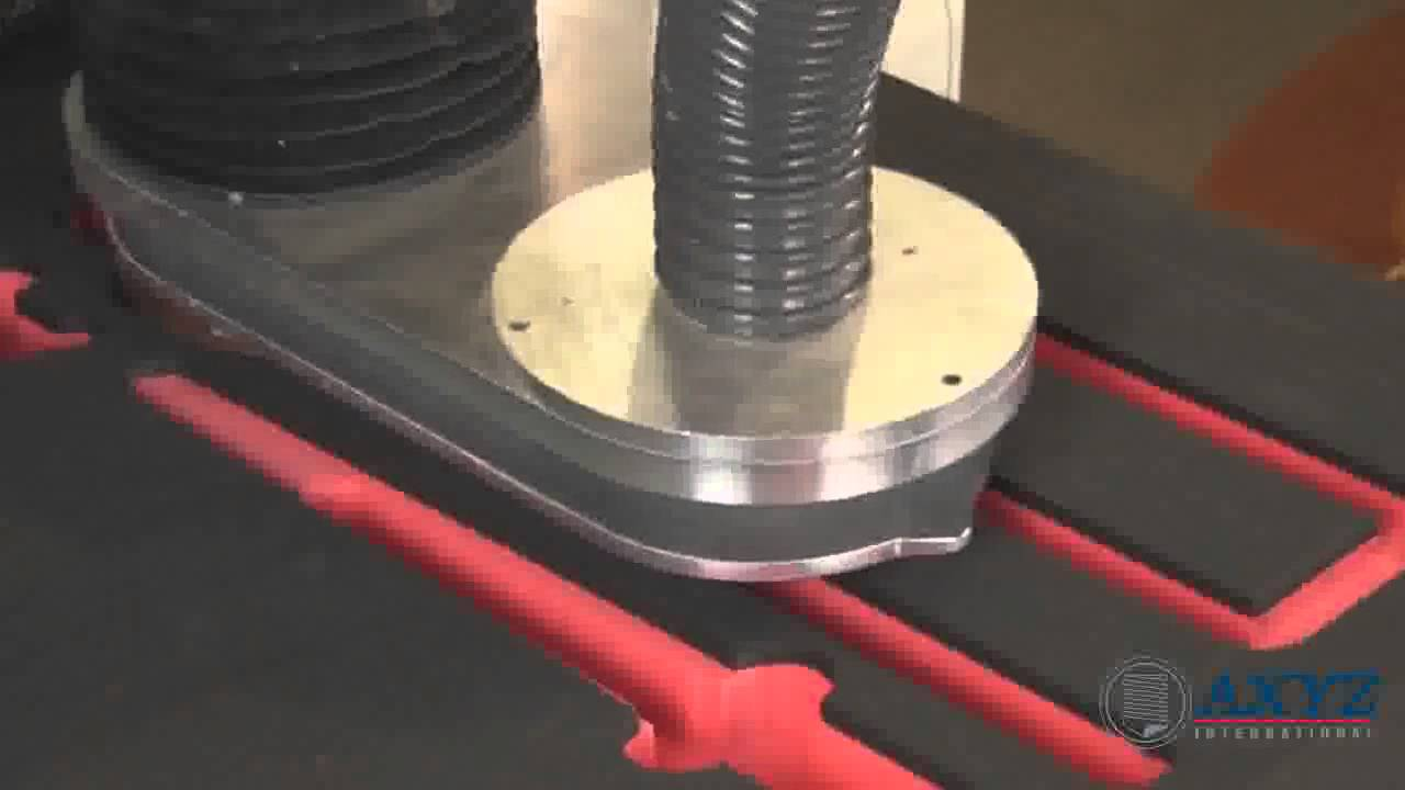 Routing And Knife Cutting Foam Cnc Router Axyz