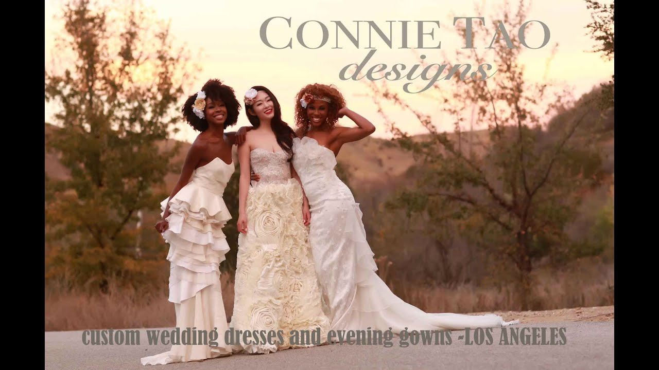 Custom Wedding Dresses Evening Gowns Los Angeles Youtube