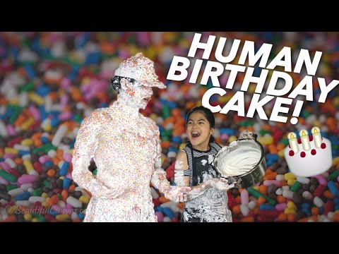 Turned Into A Human Birthday Cake Ranz And Niana Youtube