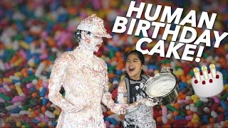 TURNED INTO A HUMAN BIRTHDAY CAKE  | Ranz and Niana