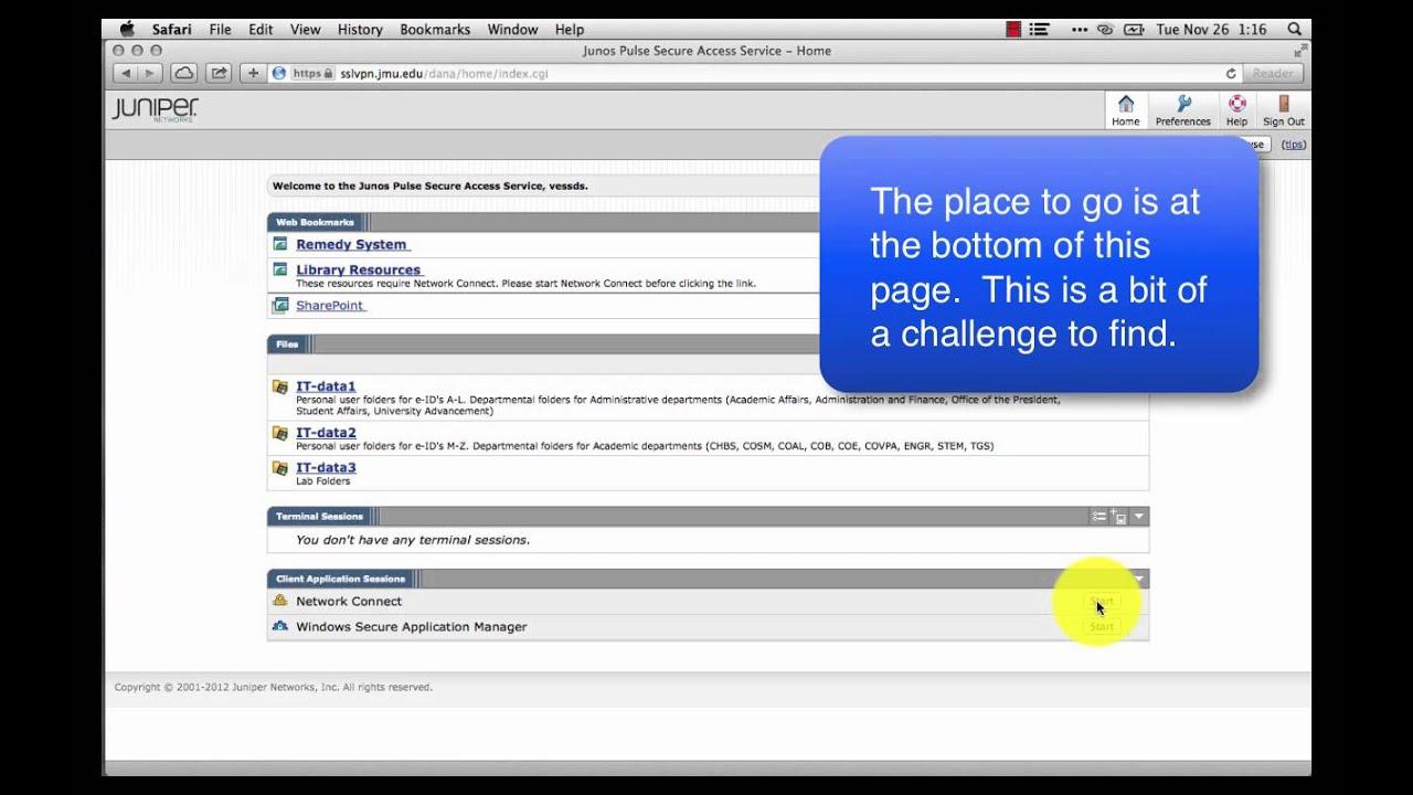 VPN UX Mac Safari with Java and Juniper Installed