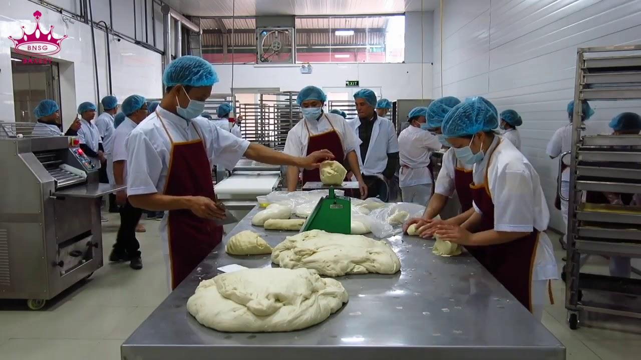 Dây chuyền sản xuất bánh pía Hùng Dương