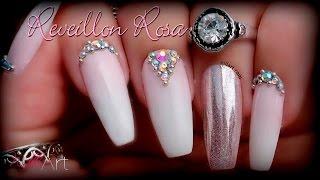 Nail Art Reveillon Rosa - Nill Art