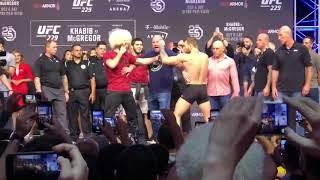 STAREDOWN! CONOR MCGREGOR AND KHABIB NURMAGOMEDOV UFC 229