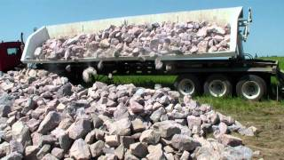 Angle #4 Side Dump in Action - Circle R Side Dump Trailers