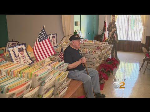 The Morning Rush - WWII Vet overwhelmed with birthday cards.