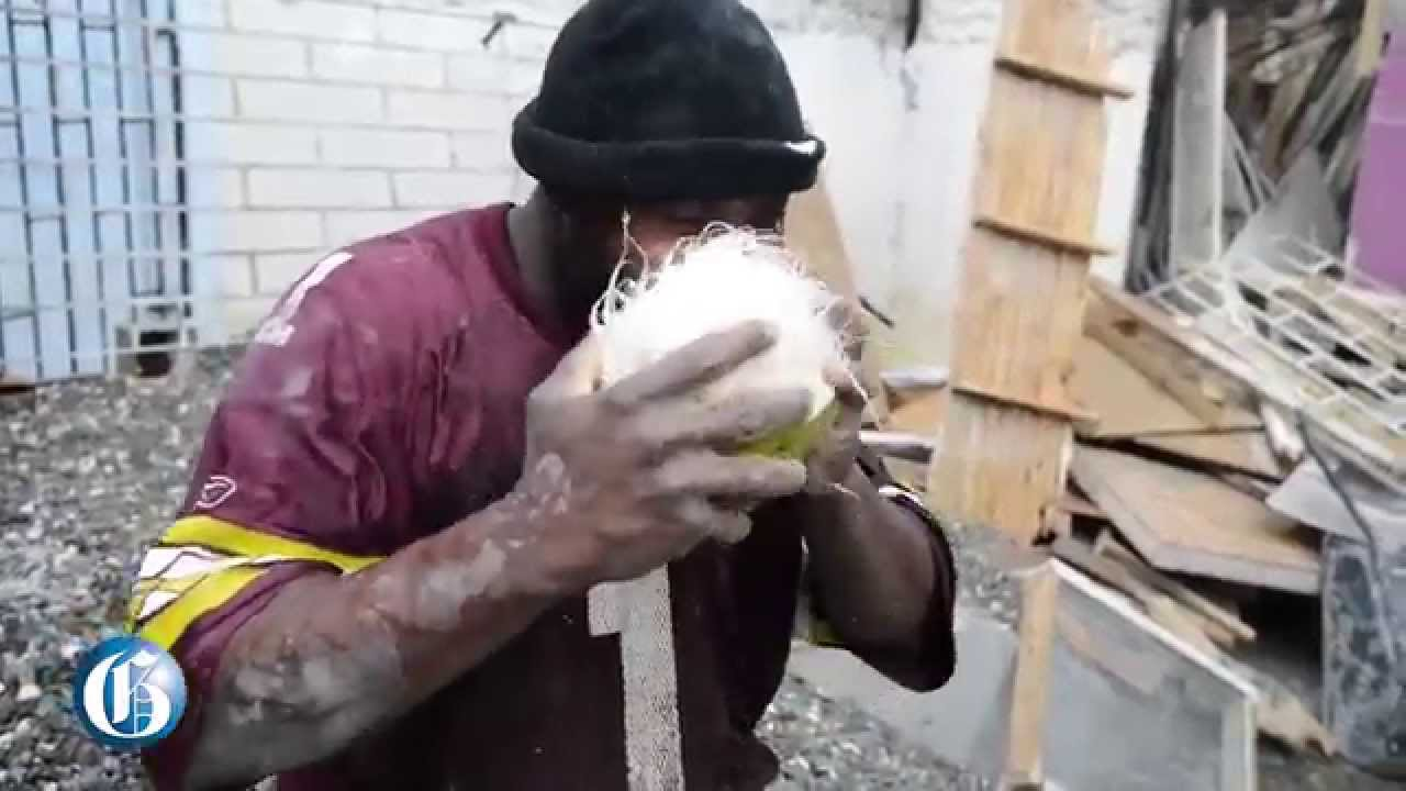 how to get a coconut open