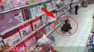 카메라 cctv에 찍힌 중국마트 의문의 아줌마 미스테리