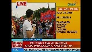 UB: Rally ng ilang militanteng grupo para sa SONA, nagsimula na
