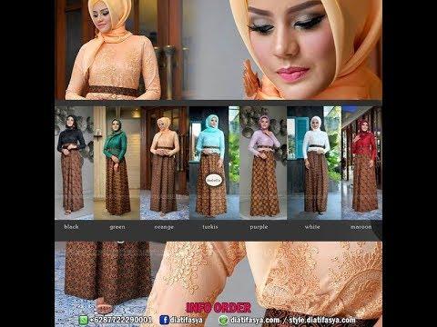 Model Gamis Batik Modern Edisi Trusmi untuk Pesta Kondangan 2017 / 2018