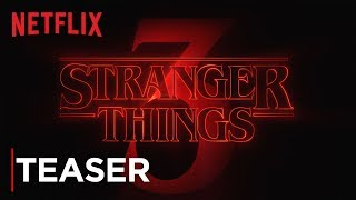 Stranger Things Season 3 Title Tease Hd Netflix