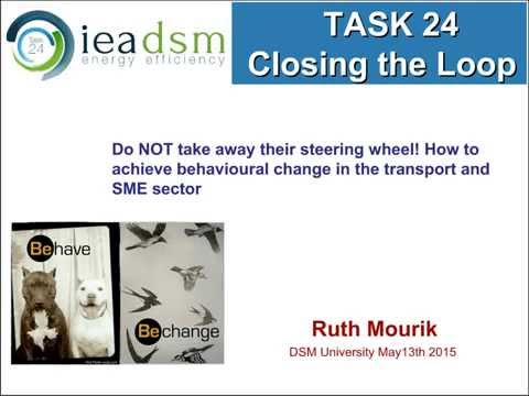 How to achieve effective behavioural change in the transport and SME domain