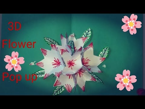Making A 3D Flower -Pop Up Card Flower || Easy And Simple