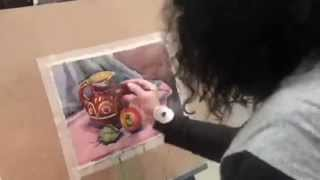 Школа рисования  FLY   Мастер класс натюрморта в технике акварели художника Т.А. Кузьминой-Чугуновой