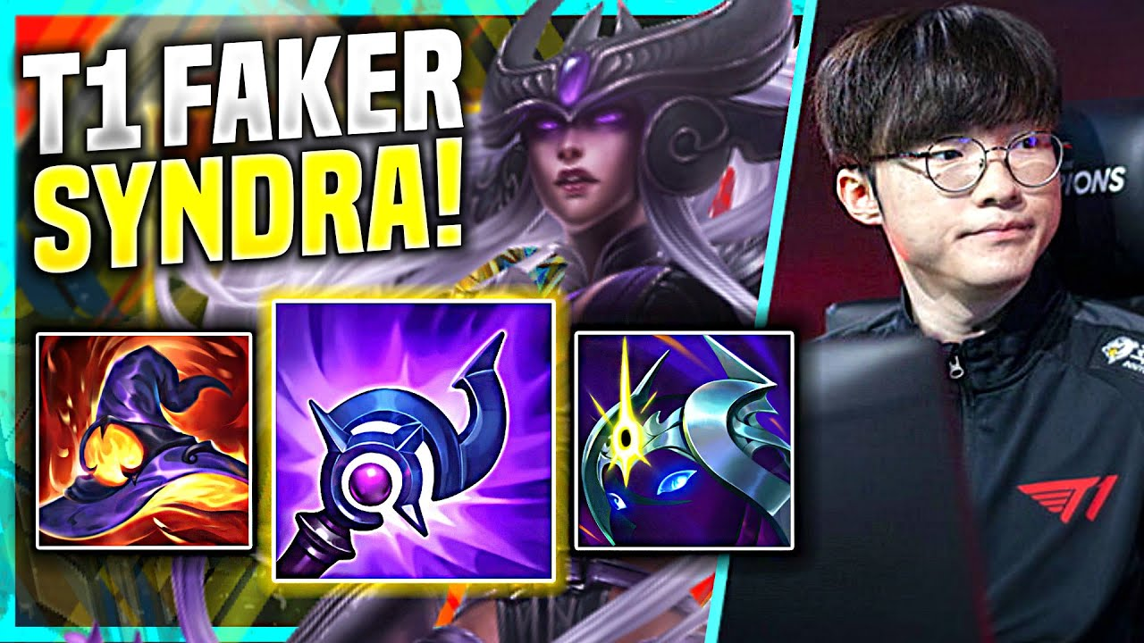 FAKER TRIES TO CARRY WITH SYNDRA! - T1 Faker Plays Syndra Mid vs Ekko! | Preseason 11