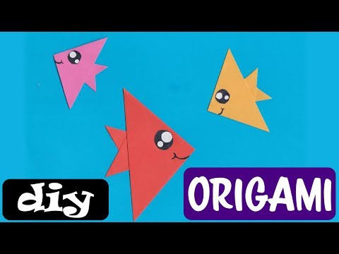 Vissen vouwen van papier (origami) - makkelijk knutselwerkje voor kinderen