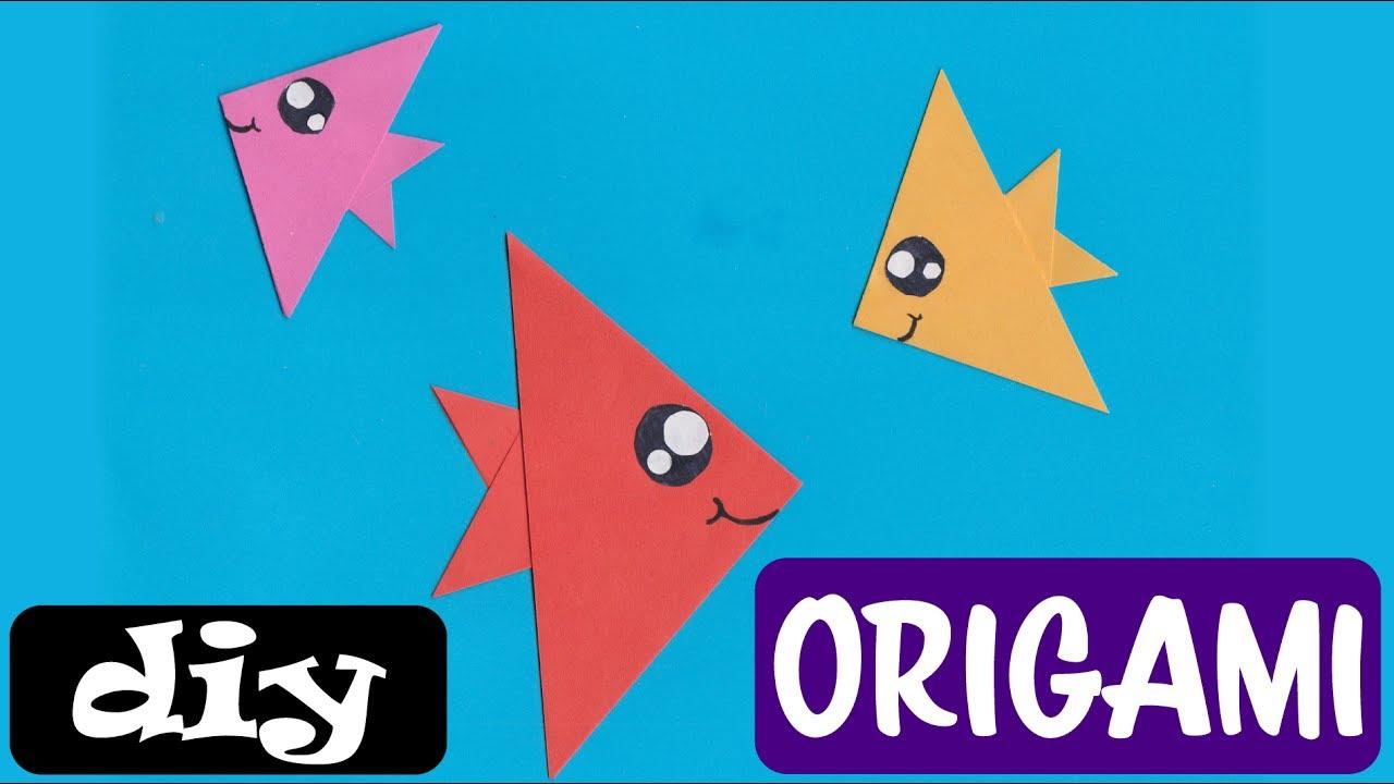 Vissen Vouwen Van Papier Origami Makkelijk Knutselwerkje Voor