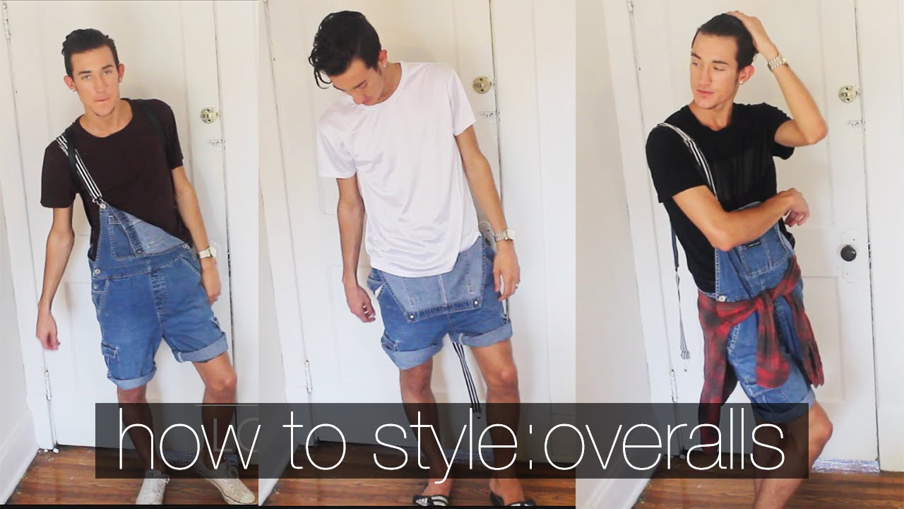 95186770fd1 How To Style  OVERALLS  Men s Fashion Summer Lookbook  - YouTube