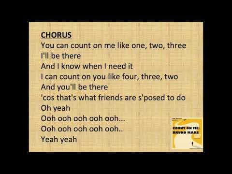 COUNT ON ME KARAOKE - Bruno Mars