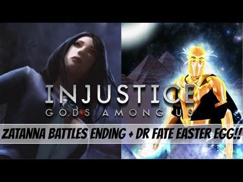 Injustice Gods Among Us: Zatanna Battles Ending + Dr Fate Easter Egg!!!