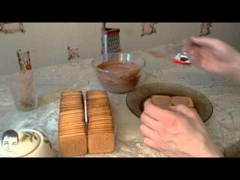 Вкусный тортик из печенья со сметаной