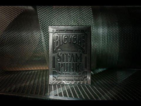 Обзор колоды Bicycle SteamPunk Silver // Deck Review (ОБУЧЕНИЕ ФОКУСАМ)