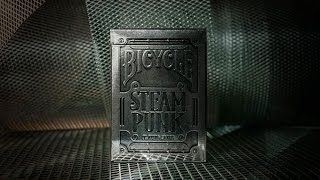 Обзор колоды Bicycle SteamPunk Silver // Deck review (ОБУЧЕНИЕ ФОКУСАМ)