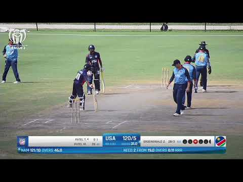 Live Cricket Usa Vs Namibia Icc World Cricket League League 2