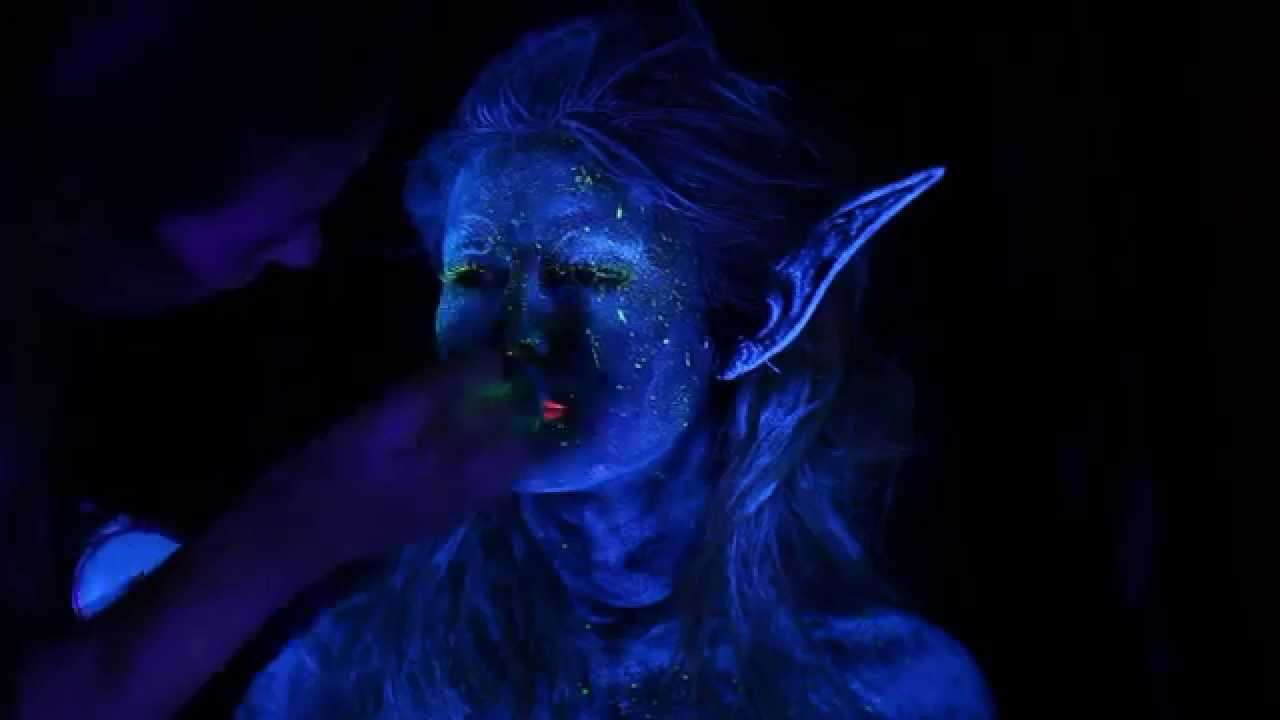 Blacklight fairy makeup tutorial and photoshoot youtube baditri Image collections