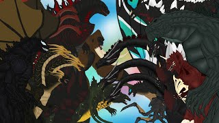 MONSTERS FUSION | All Episode Fusion : PANDY CARTOON GODZILLA COMPILATION 2020