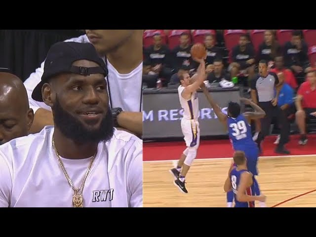 LeBron James IMPRESSED By His New Lakers Teammates While Watching! 2018 NBA Summer League
