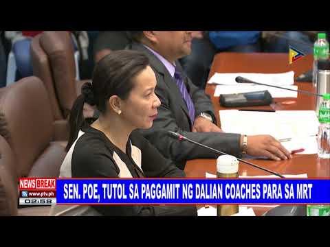 NEWS BREAK: Sen. Poe, tutol sa paggamit ng Dalian coaches para sa MRT