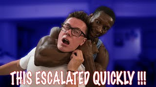 HE PUT HIM IN A HEADLOCK !!!