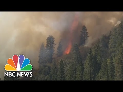 California Wildfires Burn As Southwest Floods | NBC News