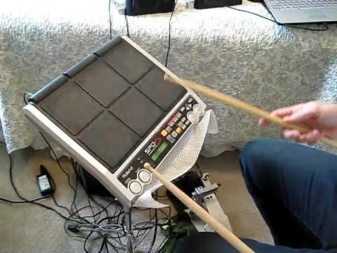 roland spd s custom drum set youtube. Black Bedroom Furniture Sets. Home Design Ideas