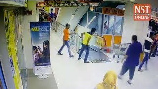 Girl, 3, in critical condition after falling from escalator in Bukit Jambul Mall