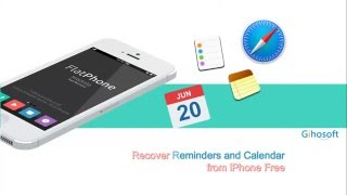 Free iPhone Recovery Software - Free Recover iPhone Notes/Reminders/Calendar/Bookmarks
